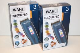 2X BOXED WAHL COLOUR PRO CORDED HAIR CLIPPER RRP £25.99 EACH Condition ReportAppraisal Available