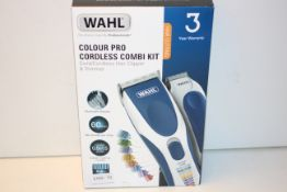 BOXED WAHL COLOUR PRO CORDLESS COMBI KIT CORD/CORDLESS HAIR CLIPPER & TRIMMER RRP £44.99Condition