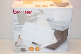 BOXED BEURER WELLBEING FOOT WARMER MODEL: FW 20 TAUPE COSY RRP £39.99Condition ReportAppraisal