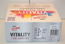 5X BOXED SLIMFAST ADVANCED VITALITY 7 DAY BOOST KITS COMBINED RRP £150.00Condition ReportAppraisal