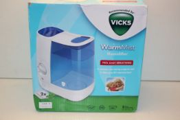BOXED VICKS WARM MIST HUMIDIFIER 3.8L RRP £28.99Condition ReportAppraisal Available on Request-