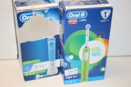 2X BOXED ASSORTED ORAL B POWERED BY BRAUN TOOTHBRUSHES (IMAGE DEPICTS STOCK)Condition