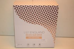 BOXED LILY ENGLAND DELUXE HAIR DRYER ROSE GOLD EDITION Condition ReportAppraisal Available on