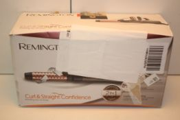BOXED REMINGTON CURL & STRAIGHT CONFIDENCE ROTATING HOT AIR STYLER RRP £59.99Condition