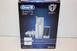 BOXED ORAL B SMART 5 POWERED BY BRAUN 5000 TOOTHBRUSH RRP £85.00Condition ReportAppraisal