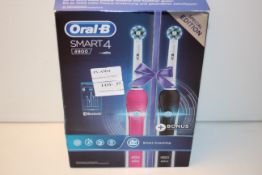 BOXED ORAL B SMART 4 POWERED BY BRAUN 4900 TOOTHBRUSH RRP £59.99Condition ReportAppraisal