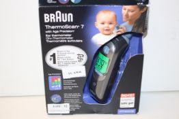 BOXED BRAUN THERMOSCAN 7 WITH AGE PRECISION EAR THERMOMETER MODEL: IRT 6520B RRP £53.99Condition