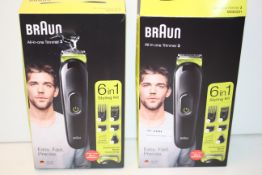 2X BOXED BRAUN ALL-IN-ONE TRIMMER 3 6-IN-1 STYLING KITS MGK3221 RRP £44.95 EACHCondition