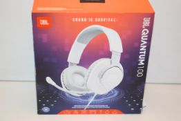 BOXED JBL BY HARMAN QUANTUM 100 - SOUND IS SURVIVAL - WIRED OVER-EAR GAMING HEADSET RRP £29.