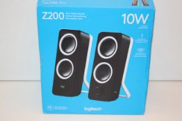 BOXED LOGITECH Z200 10W RICH STEREO SOUND SPEAKERS RRP £29.99Condition ReportAppraisal Available