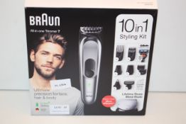 BOXED BRAUN ALL-IN-ONE TRIMMER 7 10-IN-1 STYLING KIT RRP £79.99Condition ReportAppraisal Available