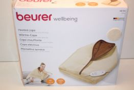 BOXED BEURER WELLBEING HEATED CAPE MODEL: HD50 RRP £59.99Condition ReportAppraisal Available on