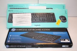 3X BOXED ASSORTED KEYBOARDS BY HP & LOGITECH (IMAGE DEPICTS STOCK)Condition ReportAppraisal