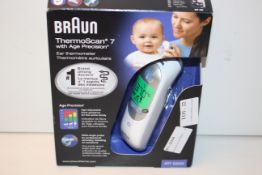 BOXED BRAUN THERMOSCAN 7 WITH AGE PRECISION EAR THERMOMETER MODEL: IRT 6520 RRP £53.99Condition