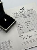 ***£11,755.00*** 18CT WHITE GOLD LADIES DIAMOND SOLITAIRE PENDENT, DIAMOND WEIGHT- 1.08CT,