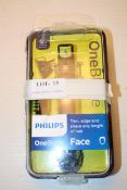 BOXED PHILIPS ONE BLADE FACE TRIM, EDGE AND SHAVE RRP £26.95Condition ReportAppraisal Available on