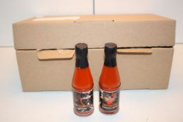 7X 60ML GLASSD BOTTLES CAYENNE HOT SAUCE Condition ReportAppraisal Available on Request- All Items