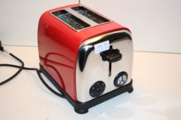 BOXED JDW RED/STAINLESS STEEL TOASTER 2 SLICE Condition ReportAppraisal Available on Request- All