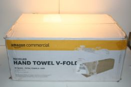 BOXED AMAZON COMMERCIAL RECYCLED HAND TOWEL V-FOLD - 20 PACKS Condition ReportAppraisal Available on