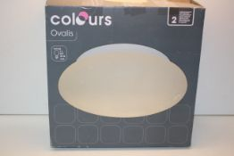 BOXED COLOURS OVAILIS SEMI FLUSH CEILING LIGHT FITTING RRP £29.99Condition ReportAppraisal Available