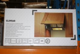 BOXED COOKE & LEWIS LED LIT STAINLESS STEEL INTEGRATED HOOD MODEL: CLIHS60 RRP £79.99Condition