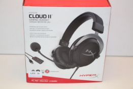BOXED HYPER X CLOUD 2 GAMING HEADSET RRP £59.99Condition ReportAppraisal Available on Request- All