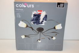 BOXED COLOURS HONOS 5 LIGHT CEILING LIGHT G9 RRP £56.00Condition ReportAppraisal Available on
