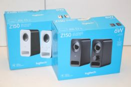 2X BOXED LOGITECH Z150 6W STEREO PC SPEAKERS COMBINED RRP £60.00Condition ReportAppraisal