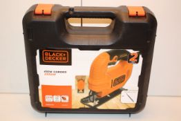 UNBOXED WITH CASE BLACK & DECKER 410W JIGSAW MODEL: KFBES410K RRP £30.00Condition ReportAppraisal