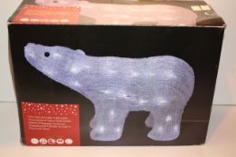 BOXED POLAR BEAR SILHOUETTE PRE-LIT Condition ReportAppraisal Available on Request- All Items are