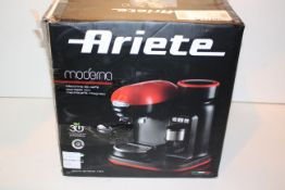BOXED ARIETE MODERNA ESPRESSO COFFEE MAKER WITH BUILT IN COFFEE MAKER RRP £175.00Condition