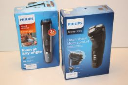 2X BOXED PHILIPS ITEMS TO INCLUDE SHAVER 3000 & BEARD TRIMMER EVEN STUBBLE (IMAGE DEPICTS STOCK)