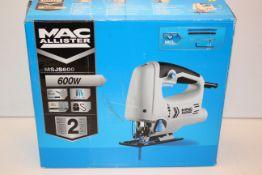 BOXED MAC ALLISTER 600W MULTI-PENDULUM JIGSAW MODEL: MSJ600 RRP £25.00Condition ReportAppraisal