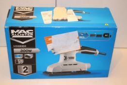 BOXED MAC ALLISTER 300W 1/2 SHEET SANDER MODEL: MSSS300 RRP £29.99Condition ReportAppraisal