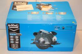 BOXED MAC ALLISTER CIRCULAR SAW 1200W MODEL: MSCS1200 RRP £39.99Condition ReportAppraisal