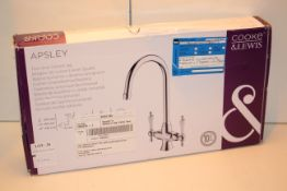 BOXED COOKE & LEWIS ASPLEY TWIN LEVER KITCHEN TAP RRP £72.00Condition ReportAppraisal Available on