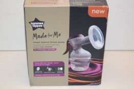 BOXED TOMMEE TIPPEE MADE FOR ME SINGLE MANUAL BREAST PUMP RRP £41.70Condition ReportAppraisal