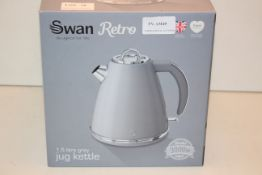 BOXED SWAN RETRO 1.5L GREY JUG KETTLE RRP £39.99Condition ReportAppraisal Available on Request-