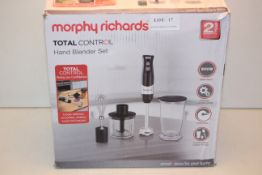 BOXED MORPHY RICHARDS TOTAL CONTROL HAND BLENDER SET RRP £23.00Condition ReportAppraisal Available