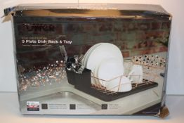 BOXED TOWER ROSE GOLD EDITION 9 PLATE DISH RACK & TRAY RRP £27.99Condition ReportAppraisal Available