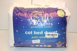BAGGED SILENTNIGHT SAFE NIGHTS COT BED DUVET 120 X 150 CM RRP £15.00Condition ReportAppraisal