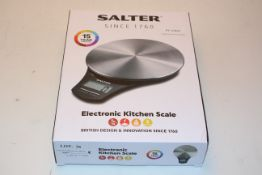 BOXED SALTER ELECTRONIC KITCHEN SCALE RRP £14.99Condition ReportAppraisal Available on Request-