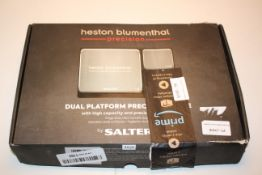 BOXED HESTON BLUMENTHAL DUAL PLATFORM PRECISION SCALE BY SALTER RRP £44.99Condition