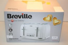 BOXED BREVILLE IMPRESSIONS WHITE 4 SLICE TOASTER MODEL: VTT470 RRP £34.99Condition ReportAppraisal