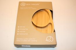 BOXED ECO RASCALS STYLISH & ECO FRIENDLY TABLEWARE FOR YOUR CHILDREN - BAMBOO SUCTION PLATE