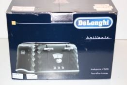 BOXED DELONGHI BRILLIANTE FOUR-SLICE TOASTER RRP £52.99Condition ReportAppraisal Available on