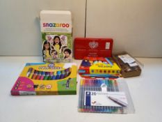 ASSORTED CHILDRENS COLOURING PENS, PAINTS & CHALKS COMBINED RRP £30 Condition ReportAppraisal