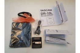 UNBOXED TASCAM DR-10L MICRO LINEAR PCM RECORDER RRP £199.99Condition ReportAppraisal Available on