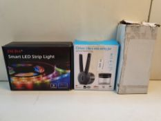 X 3 BOXED ITEMS TO INCLUDE LED STRIPS, GRINDER & OTHER ITEMCondition ReportAppraisal Available on