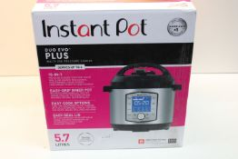 BOXED INSTANT POT DUO EVO PLUS 5.7 LITRE 10-IN-1 PRESSURE COOKER Condition ReportAppraisal Available